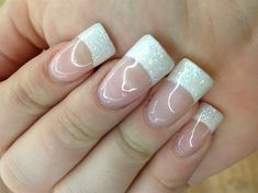 Glitter French by Kerbear90 - Nail Art Gallery nailartgallery.nailsmag.com by Nails Magazine www.nailsmag.com #nailart