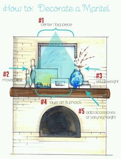mantel decorating ideas   Mantel decor ideas/ Option 2   For the Home