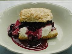 whole wheat saskatoon shortcake.  A total prairie girl summer dessert.