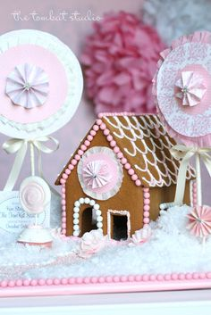Pretty Pink Gingerbread House