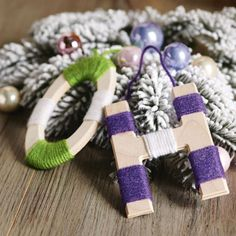 Make your own personalized yarn wrapped initial ornament or give several as gifts