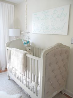 The Colette crib is so regal yet adds such a sweetness to this baby boy nursery! #rhbabyandchild #fallinlove
