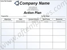 business action plan template excel .