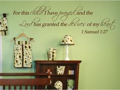 Definitely having this in our baby room one day!! Love the green walls too!