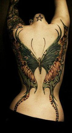 Magnificent butterfly back piece.