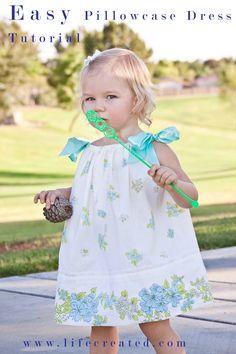 tuturial for simple pillowcase dress LifeCreated Blog