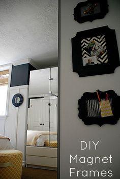 diy ideas, decor, craft, diy magnet, magnet frame, nautical bedroom, magnetic boards, picture frames, magnet boards