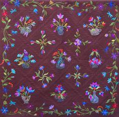 raffl quilt, quilter garden, flower quilt, appliqu quilt, quilt idea