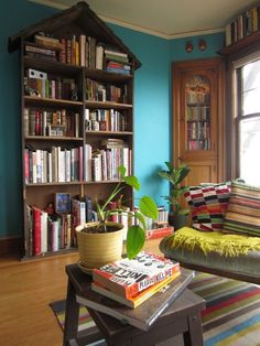 Blue and books