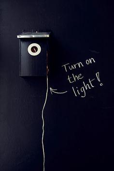 Chalkboard wall light ★