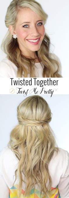 A hairstyle that takes less than four minutes?  Sign me up!  I love how simple and elegant this hairstyle is, the perfect down style.  Come check out the tutorial at Twist Me Pretty!