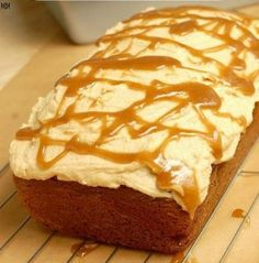Pumpkin Bread with Salted Caramel Buttercream