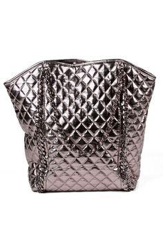Amrita Singh Alaya Handbag In Metallic Gunmetal - Beyond the Rack