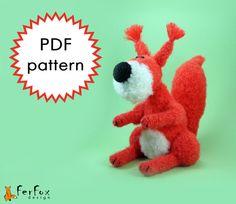 Amigurumi Crochet Pattern Squirrel Berta by FerFoxDesign on Etsy, €4.90