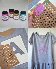 DIY Stencil Girl's Dress – Handmade Charlotte Stencil – Summer DIY Stencils for Kids | Small for Big