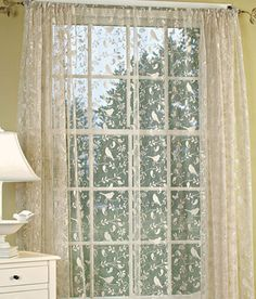 Beautiful Bristol Garden panels, valances and swags - ready to hang.  Shop at http://www.oldeworldelace.com/lace_curtains__bristol_garden.html