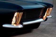 ride, classic car, black car, buick riviera, auto, 1963 buick, matte black, grills, fesler