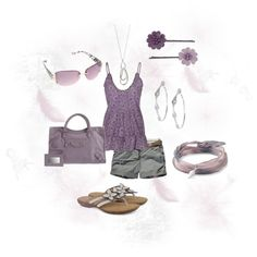 Purple and Grey, created by willowtree24 on Polyvore