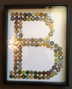 Birthday gift for the BF out of his beer caps!