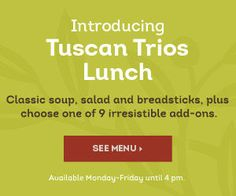 Tuscan Trios Lunch