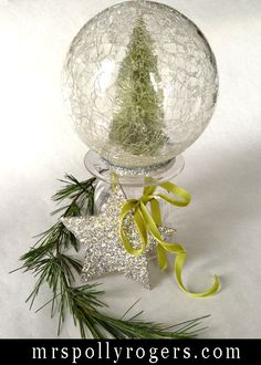 Click here to DIY Last Minute Holiday Decorating Ideas.  Vintage Bottle Brush Tree Blog & Video.  From MrsPollyRogers.com