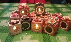 Birthday cake tea lights in a homemade box!!!