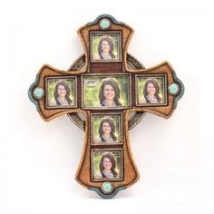 M Western 6 Piece Cross Picture Frame