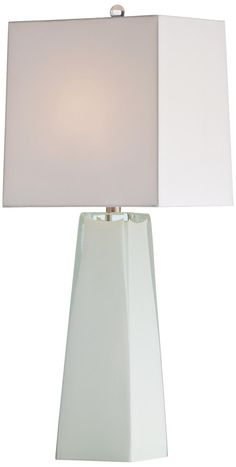 Arteriors Home Roma White Cased Glass Table Lamp -