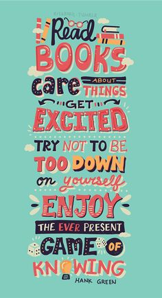 Hank Green Quotes - Lettering Series by Risa Rodil, via Behance