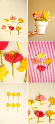 Lollipop Valentine Paper Flower | Oh Happy Day