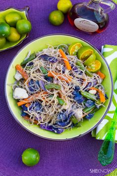 Asian rice noodles, the healthier way