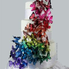 Gorgeous Butterfly Wedding Cake