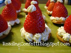 Strawberry Cheesecake Santa Hats