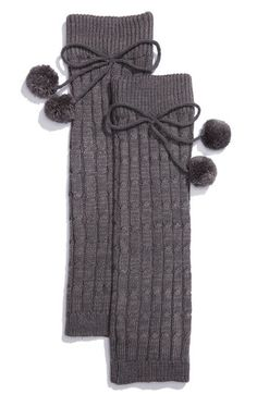 Nordstrom Cable Knit Leg Warmers Charcoal