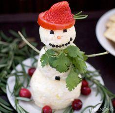Snowman Cheese Ball