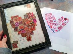 Postage Stamp Heart