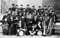 Don Bosco con la banda musical. 1870, Turín.
