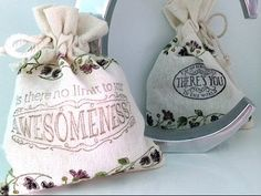VIDEO - - Stamping & Coloring on Muslin Bags