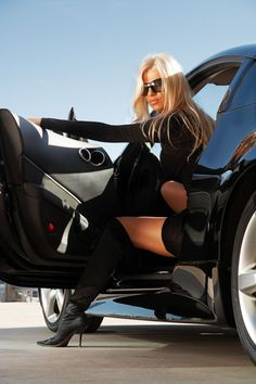 the women, hot outfits, leg, sexi, dream, travel fashion, black boots, blond, classic style
