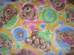 Boyds Bears Pink Blue Gold Green Fleece Baby by Scrunchiesbysherry, $20.00
