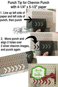 """www.PattyStamps.com - Chevron Border punch tip for 5-1/2"""" wide paper"""