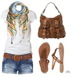 Casual summer outfit, would wear with beige wedges for dinner/evening.