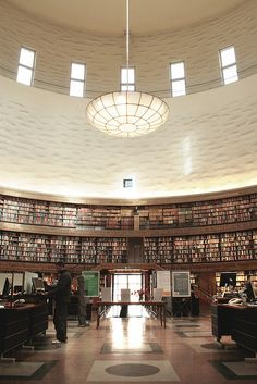 Gunnar Asplund - Stockholm Library by fredefele, via Flickr