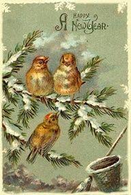 Vintage Happy New Year card..  via pinterest..