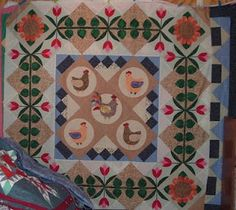 With Needle and Thread I will travel far !: Chicken Quilt