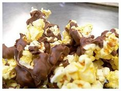 I make this all the time... chocolate dipped popcorn saw it for 6.00 for a half pound at a gift shop, so decided to make it at home for much cheaper.