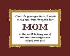 Mother's Day Poem Family Saying Home Decor Wall « Blast Gifts
