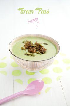 100% Végétal: Soupe de pois au fenugrec et croûtons de tempeh fumé à la coriandre. | Recette végétalienne - Vegan recipe