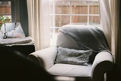 Comfy oversized chair for reading