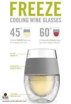 Freeze Cooling #Wine Glasses - uber cool!